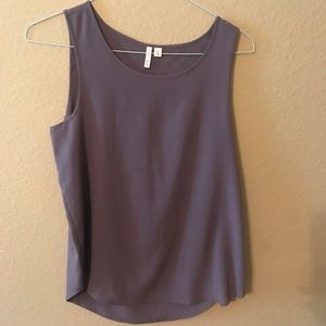 Grey tank top blouse